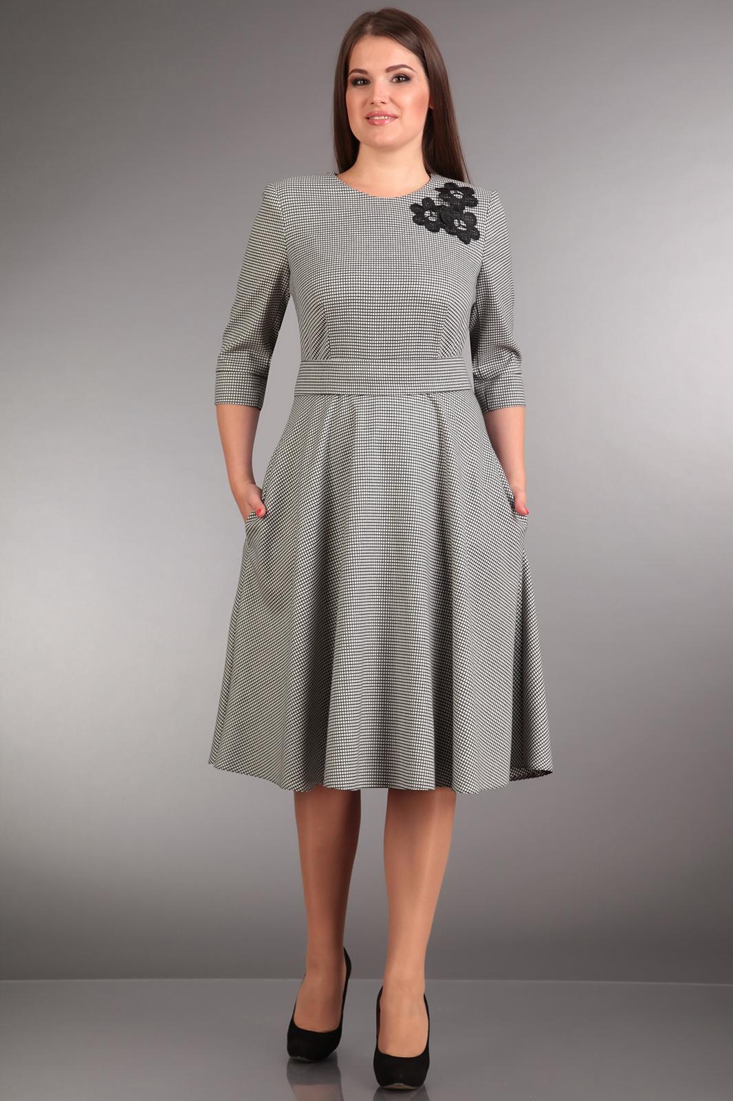 Платья для полных женщин отрезное по талии