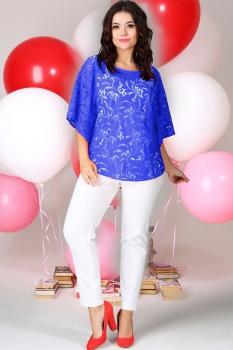 Комплект Anastasia 125 синий с белым