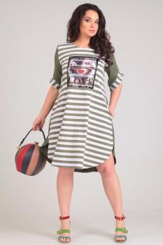 Платье Andrea Style 0060 олива