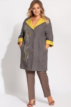 Кардиган Artribbon-Lenta 2871K7001 графил+желтый