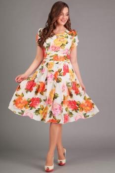 Платье Асолия 2358 цветы