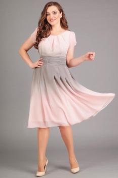 Платье Асолия 2365 розовый оттенок