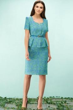 Жакет Bazalini 3088 зелёно-голубые тона