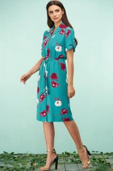 Платье Bazalini 3162 бирюзовый