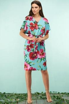 Платье Bazalini 3174 голубой
