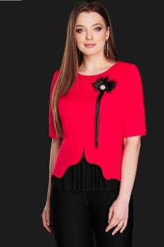 Блузка DiLiaFashion 0104-1 красный