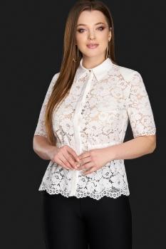 Блузка DiLiaFashion 0106-1 белый