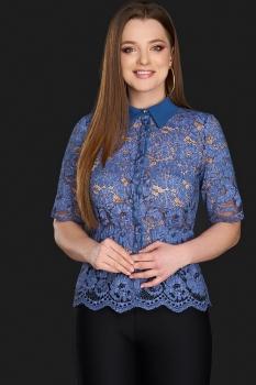 Блузка DiLiaFashion 0106-4 василек