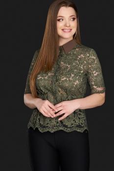Блузка DiLiaFashion 0106-5 хаки