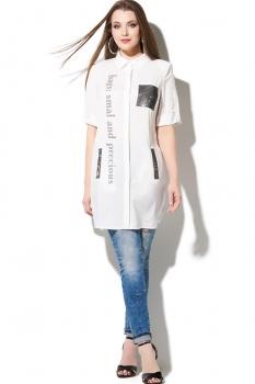 Блузка DiLiaFashion 107-1 белый