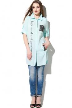 Блузка DiLiaFashion 107-2 голубой