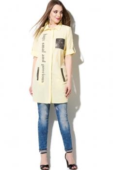 Блузка DiLiaFashion 107 желтый