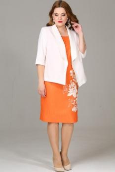 Комплект Djerza 2156 белый+оранжевый