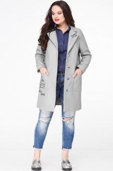 Пальто Erika Style 587-1 серый