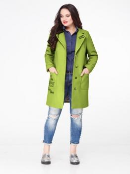 Пальто Erika Style 587-2 зеленый