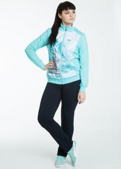 Спортивный костюм For Rest 5743-3 голубой/синий