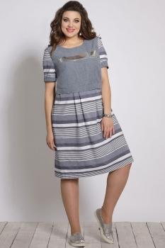 Платье Галеан стиль 643 оттенки синего