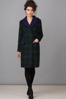 Пальто Glasio 15006 сине-зеленый