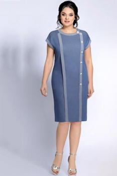 Платье Джерси 1692 серо-голубой