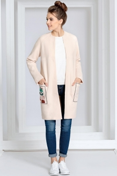 Пальто Kaloris 1382-1 розовый