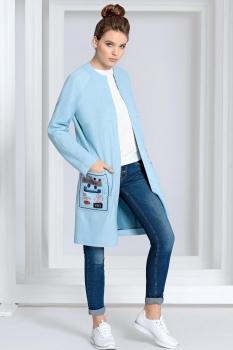 Пальто Kaloris 1382 голубой