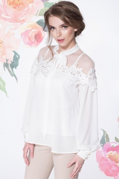 Блузка LeNata 11883 молочный