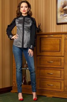 Блузка Lissana 3327 серебро с черным