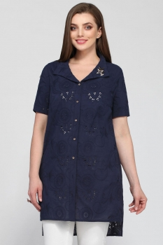 Блузка Matini 41196-1 темно-синий