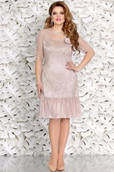 Платье Mira Fashion 4407 бежевый