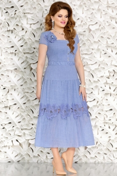 Платье Mira Fashion 4457 голубой