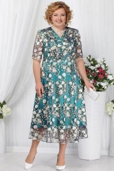 Платье Ninele 2155-2 изумрудный