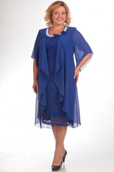 Платье Pretty 343-1 васильковый