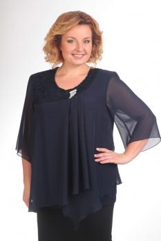 Блузка Pretty 376 темно-синий