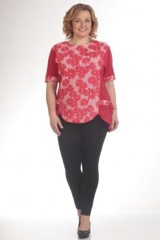 Блузка Pretty 433-1 красный
