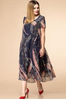 Платье Romanovich 1-1332-24 тёмно-синий