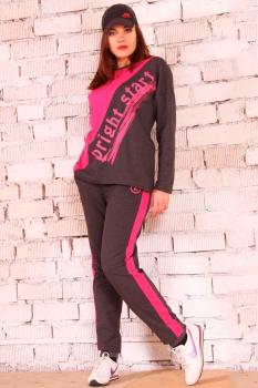Спортивный костюм Runella 1225 с розовым