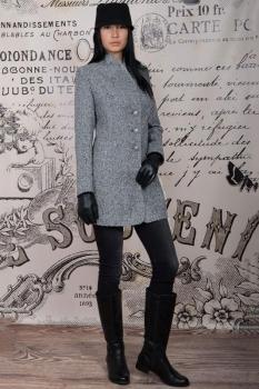 Пальто Tricotex Style 1552 серые тона