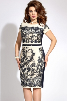 Платье Vittoria Queen 5983 белый+тёмно-синий