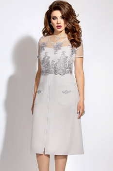 Платье Vittoria Queen 6073 светло-серый