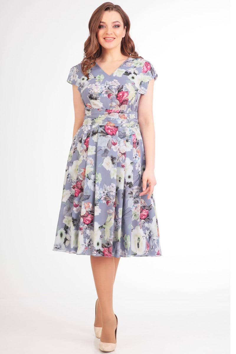 Платье Асолия 2359 голубой - фото 1