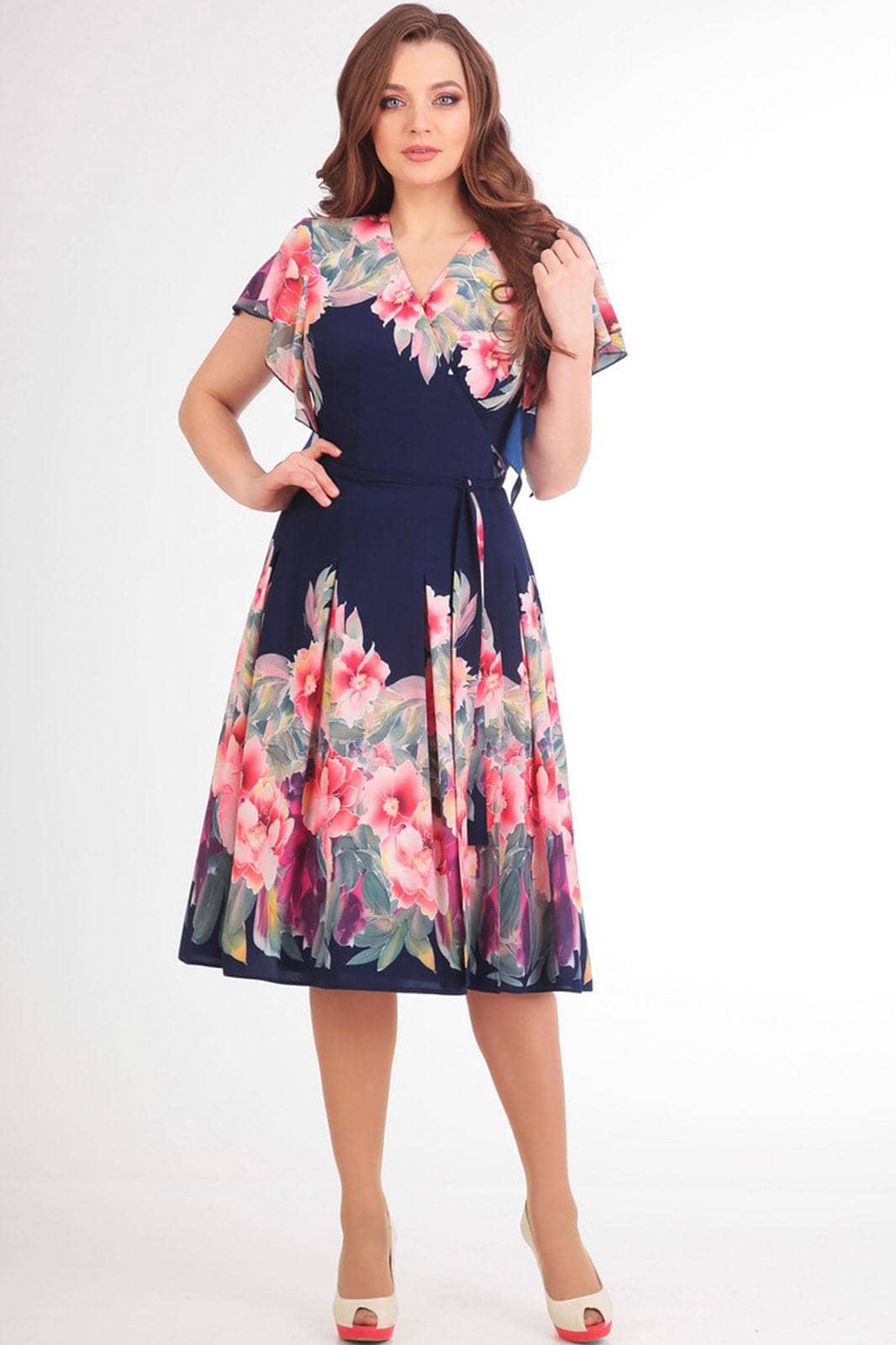 Платье Асолия 2361 синий - фото 1