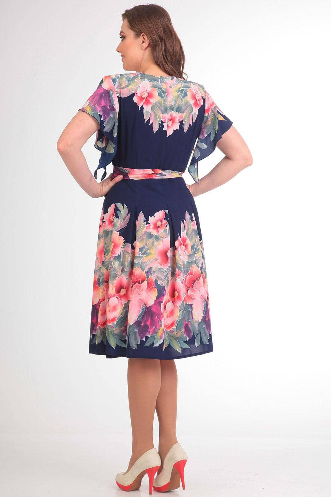 Платье Асолия 2361 синий - фото 2