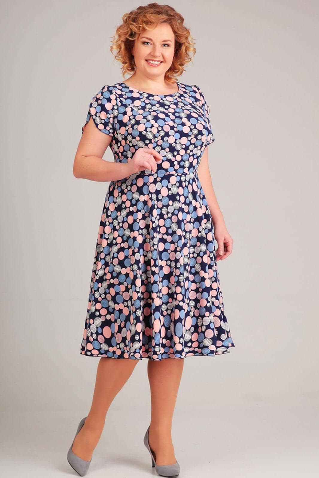 Платье Асолия 2363 круги - фото 1