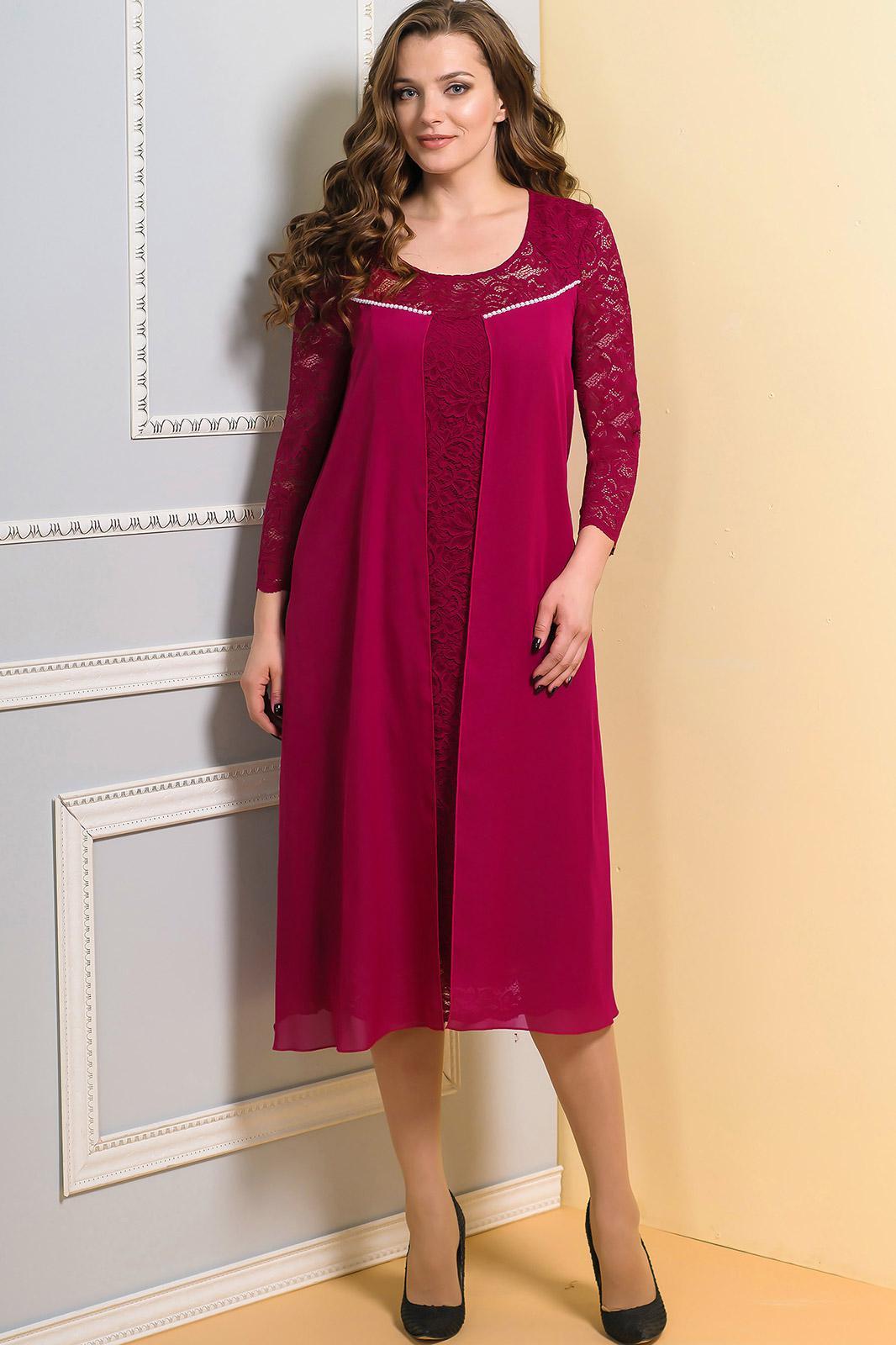 Платье Diomel 515-2 бордо - фото 1