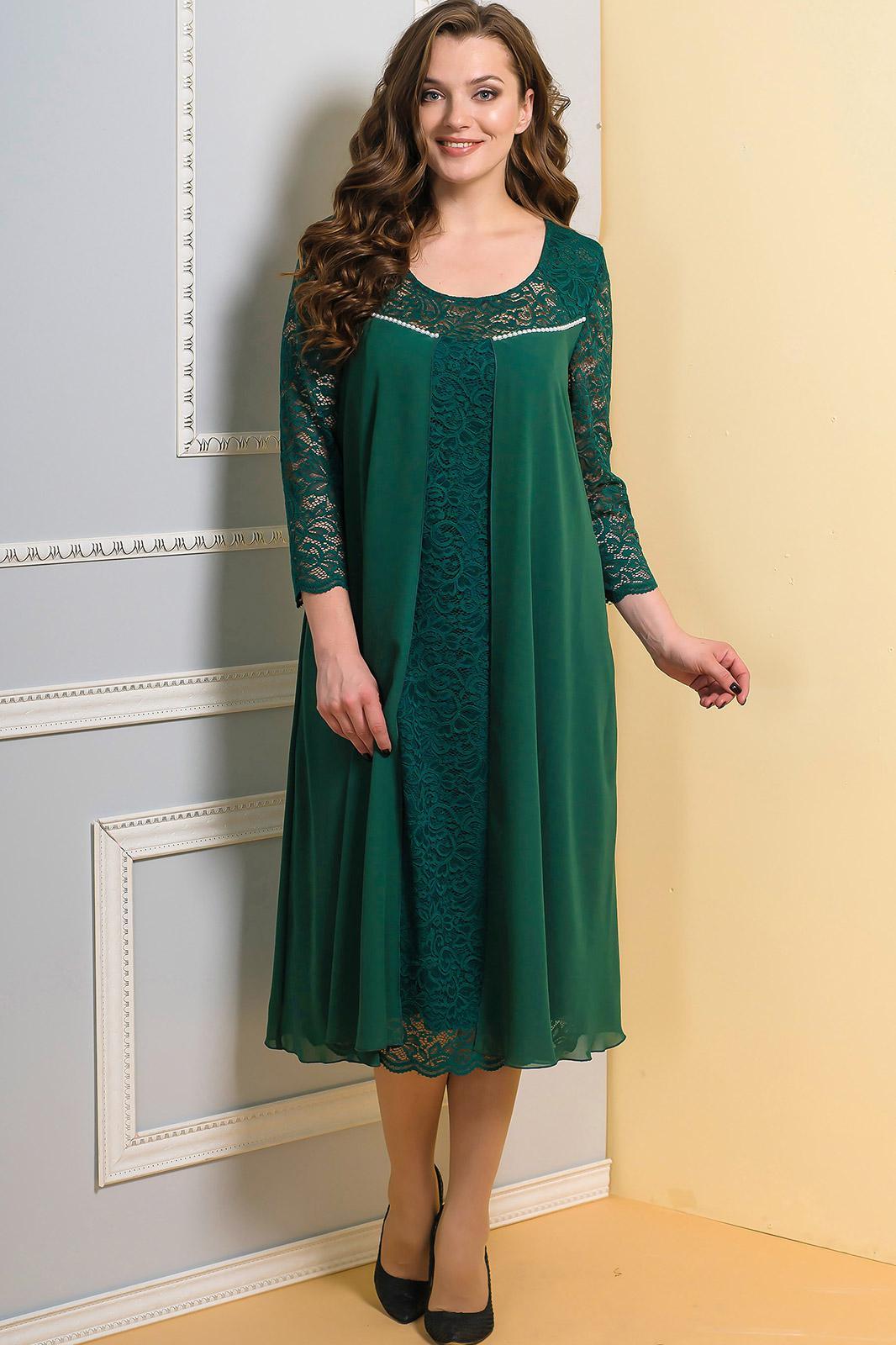 Платье Diomel 515-3 зеленый - фото 1