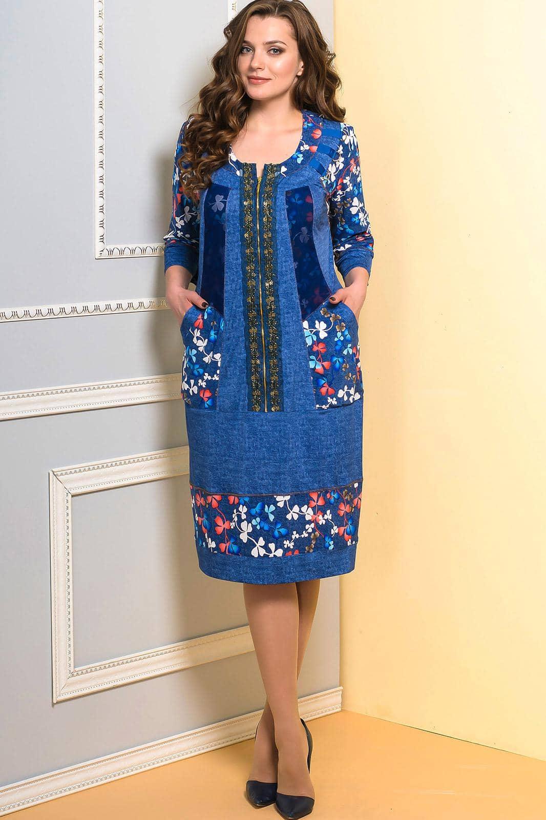 Платье Diomel 945 синий - фото 1