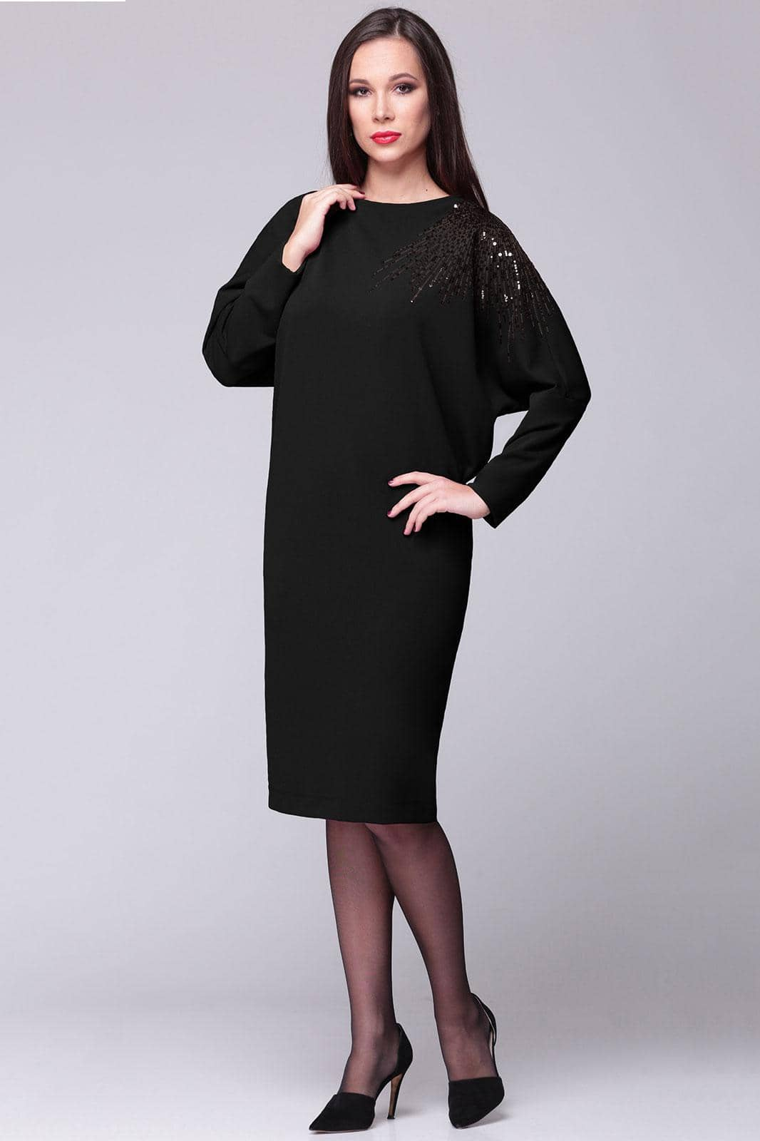 Платье Faufilure 360С-4 черные тона - фото 1