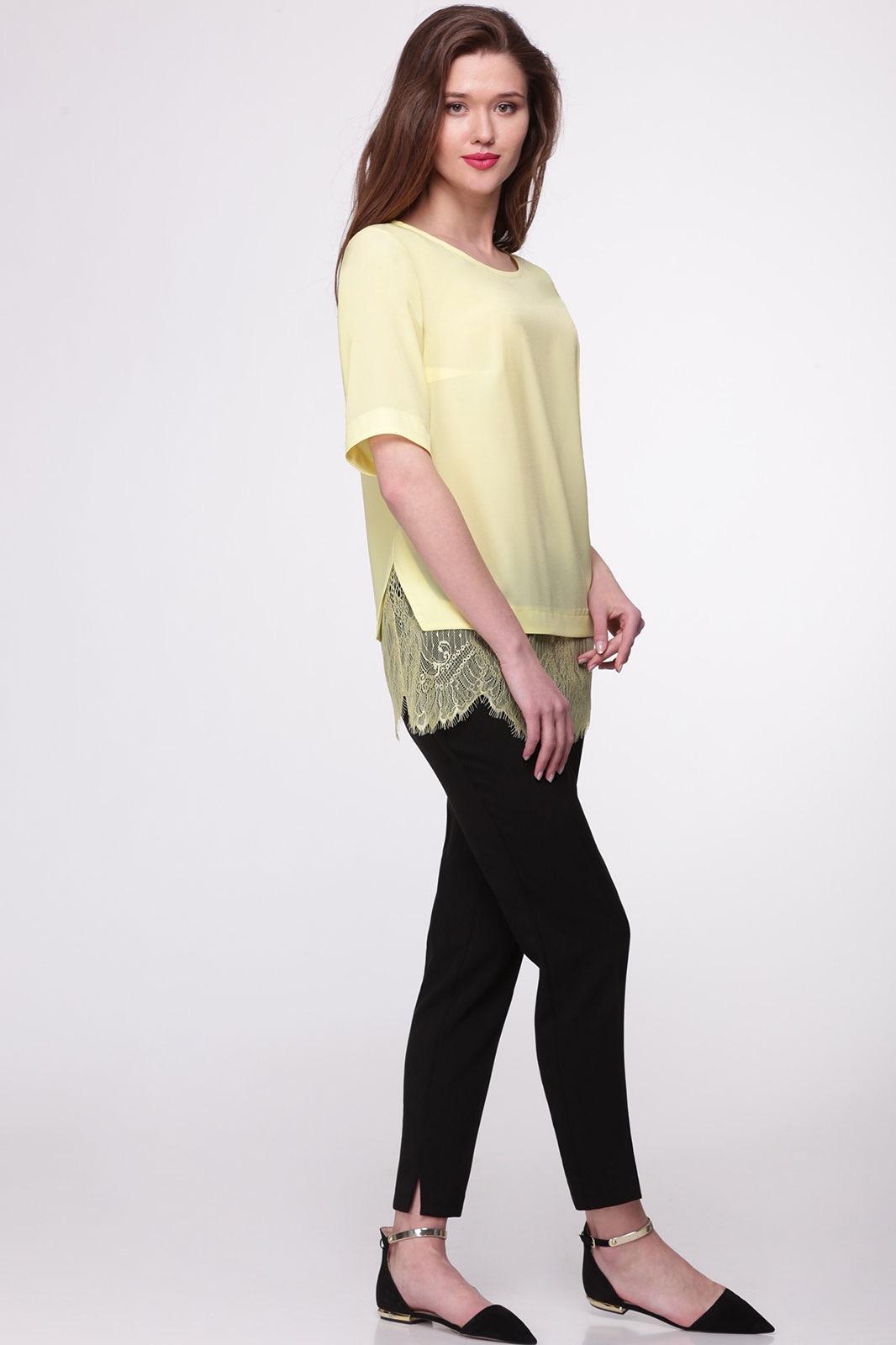 Блузка Faufilure 369С-1 желтые тона - фото 1