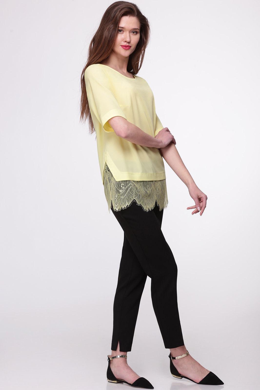 Блузка Faufilure 369С-1 желтые тона - фото 2