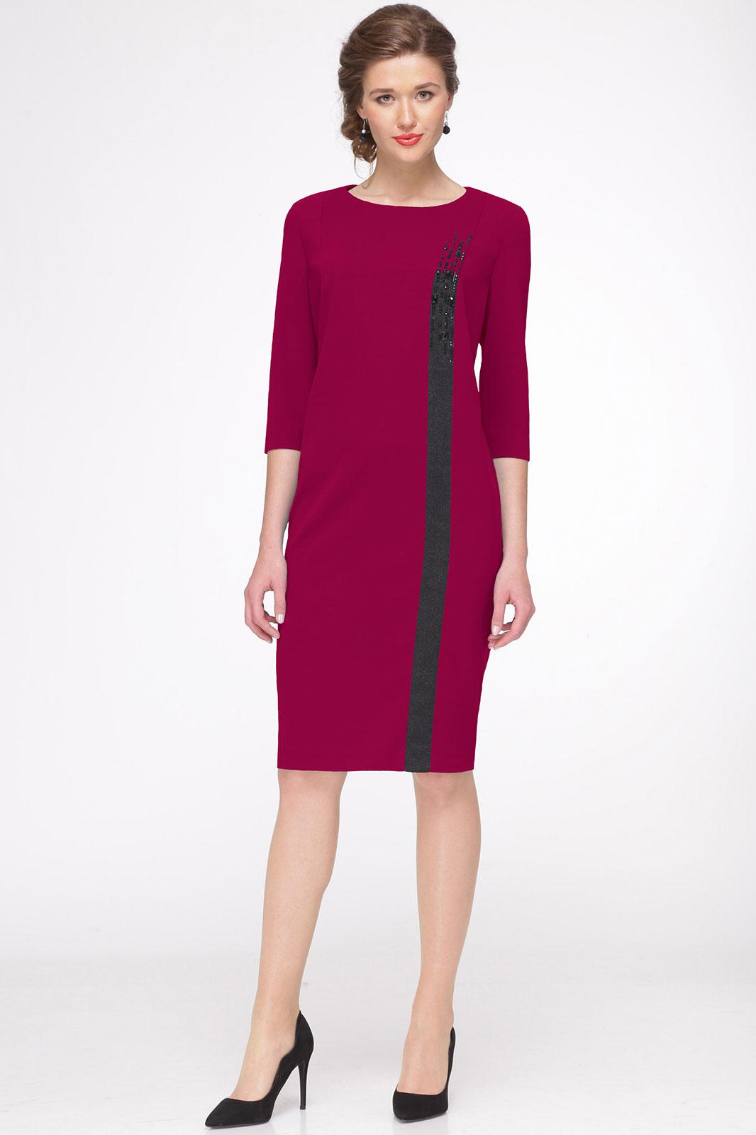 Платье Faufilure 438С бордо - фото 1